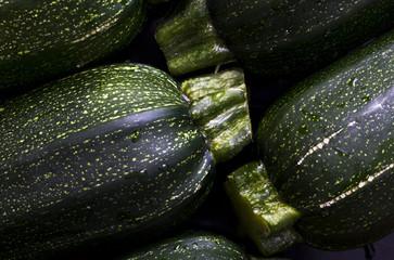 Detail of zucchini (zucchetti, courgettes)