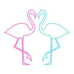 Flamingos illustration. Vector