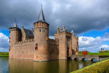 Foto op Canvas Kasteel Muiderslot Castle, Muiden, The Netherlands