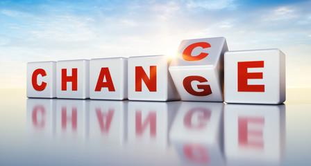 Würfel Motiv Change - Chance