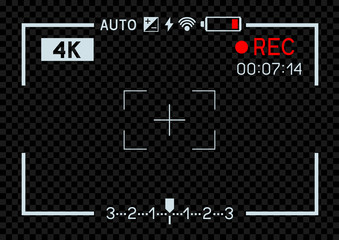 4K video camera viewfinder dark