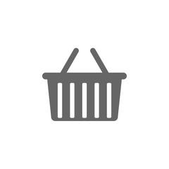 Shopping basket icon. Flat design. Vector illustration.