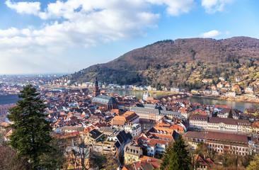 Vue aérienne d'Heidelberg,Région métropolitaine Rhin-Neckar Heidelberg, Allemagne