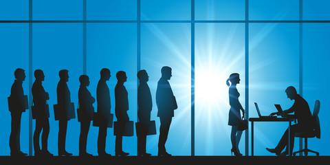 embauche - sélection - femme - discrimination - file d'attente - candidat - sélectionner - candidature