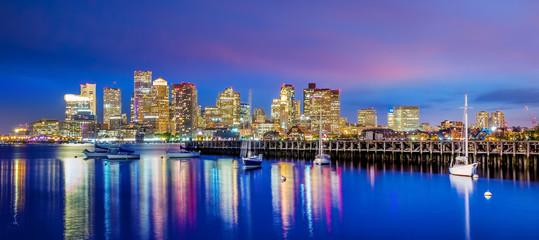 Panorama view of Boston skyline