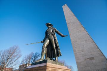 Wall Mural - Bunker Hill Monument in Boston, Massachusettsin