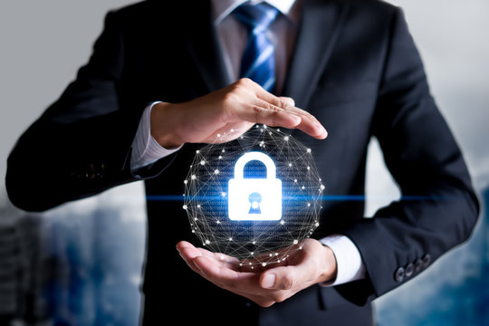 Cybersecurity and information technology security services concept.