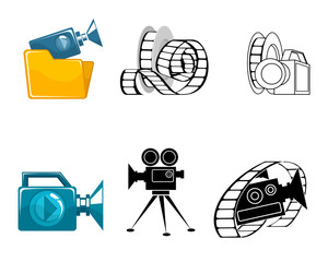 Six icons for video clips
