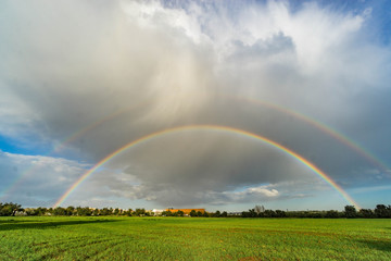 Double rainbow after a big storm