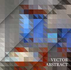 Abstract geometric background from brown and gray triangles, with sample text.