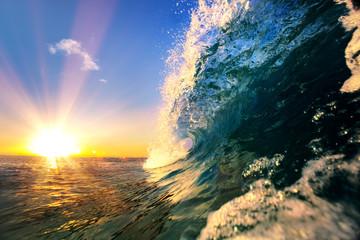 Fale oceanu tropikalny tło