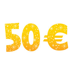 50 Euro sign icon symbol