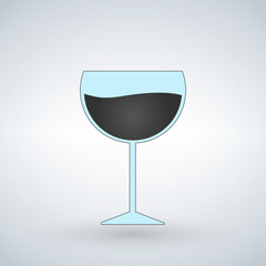 Wine glass vector illustration isolated on white background.