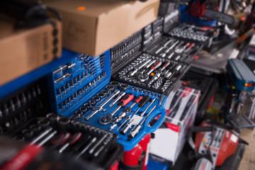 Photo of new tools on showcase