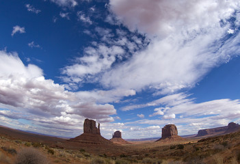 The Mittens in Monument Valley Navajo Tribal Park, Arizona