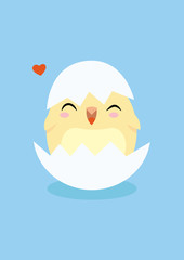 flat little chicken