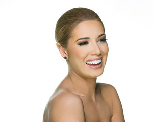Beauty Model Laughing