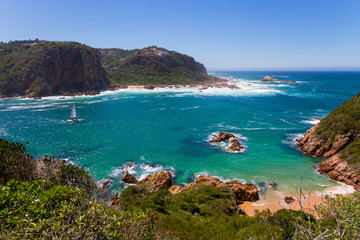 Foto op Canvas Zuid Afrika Amazing view of Featherbed, Knysna, Featherbed Nature Reserve, South Africa