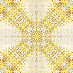 Gold pattern texture with golden mosaics in the Byzantine style Antique mosaic. Mosaic tiles in antique style. Cobblestone colorful texture for your design, Stone plate paving pattern. Luxury Vector