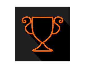 black orange color trophy icon sports equipment tool utensil image vector