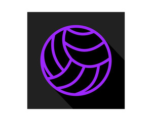 purple black volley ball icon sports equipment tool utensil image vector