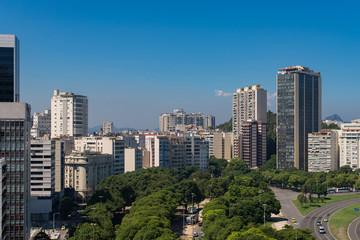 View of Buildings of Botafogo Neighborhood in Rio de Janeiro, Brazil