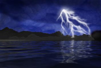 Stormy Water Scene