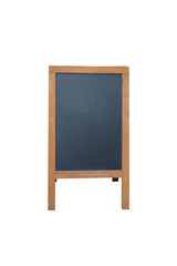 Wood black board on white background
