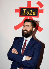 Cast member Jason Schwartzman arrives for a screening of 'Isle of Dogs' in New York