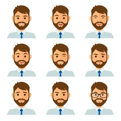 Businessman expresions avatar