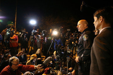 Austin assistant police chief Reyes addresses the media regarding an incident in Austin