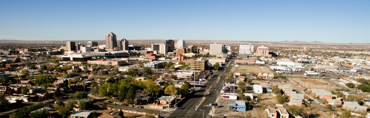 Albuquerque Downtown City Metro Skyline Desert South New Mexico