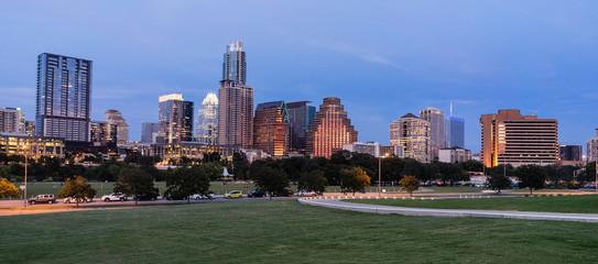 Butler Metro Park Grounds Night Dusk Downtown City Skyline Austin