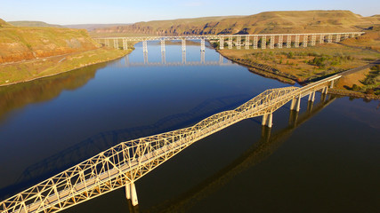 Lyon's Ferry Bridges Snake and Palouse River Washington State