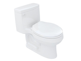toilet or wc isometric side view isolated on a white background 3d rendering