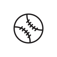 baseball outlined vector icon. Modern simple isolated sign. Pixel perfect vector  illustration for logo, website, mobile app and other designs