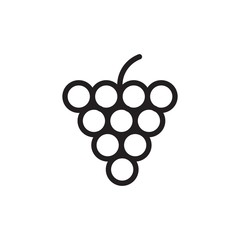 grape outlined vector icon. Modern simple isolated sign. Pixel perfect vector  illustration for logo, website, mobile app and other designs