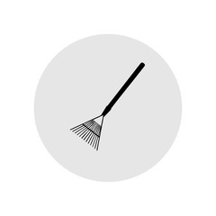Rake leaves. Vector Illustration