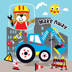 builder cartoon vector art