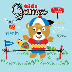 kids game cartoon vector