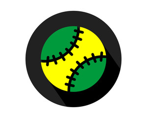 black circle baseball icon sports equipment tool utensil image vector