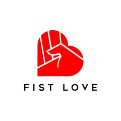 love fist logo vector