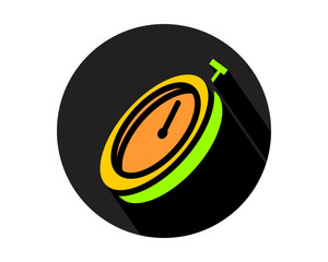 black circle timer icon sports equipment tool utensil image vector