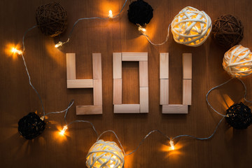 Love alphabet and decorative light background, I Love You, Concept design