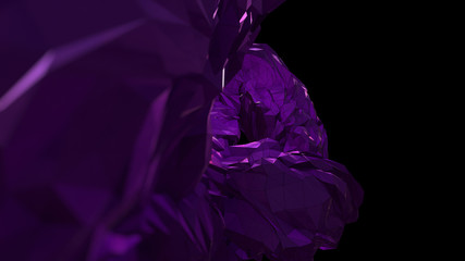 Computer generated smooth gem shaped abstract background. Purple Color.