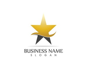 Star icon logo design stylized