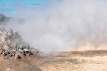 Myvatn sulfatars in iceland