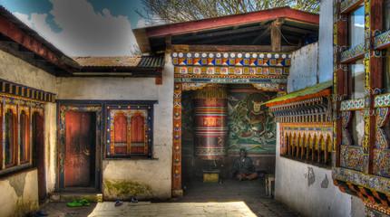View to Chimi Lhakhang monastery, Lobesa, Bhutan