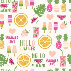 Summertime seamless pattern