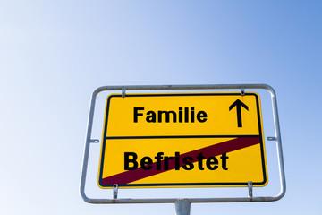 Familie statt Befristet Arbeiten